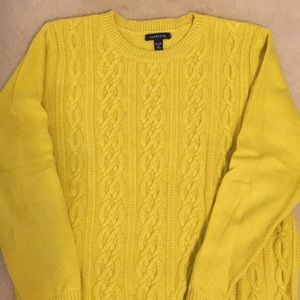 Ladies cable knit sweater